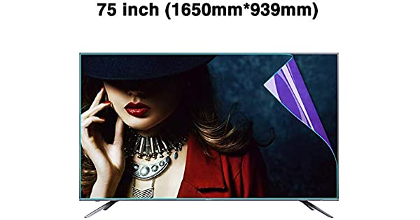 BYCDD 75 Inch TV Screen Protector OLED /& QLED 4K HDTV,Clear LED Anti-Blue Light Non-Glare Anti-Scratch Eye Protection Screen Filter for LCD