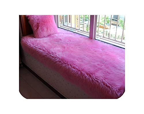 Joyfeel-light Multi Color Solid Long Fur Sofa Cover Fluffy Fake Fur Sectional Slipcovers Canape Couch Furniture Cover,Deep Pink Per Pic,80Cm200Cm 1Piece