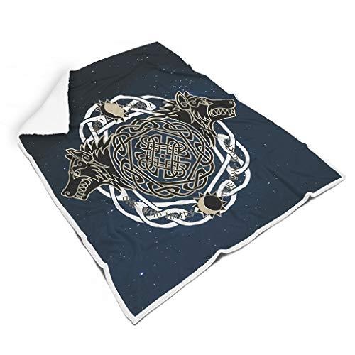 Manta Viking universal de lujo para llevar – Vikingo para estudio de biblioteca para adultos, regalo blanco 60 x 80 pulgadas