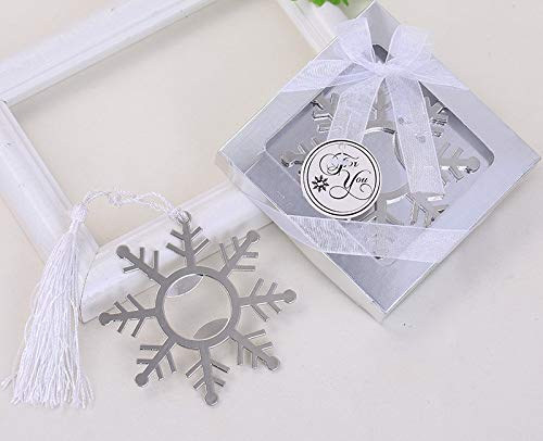 Yuokwer Snowflake Silver Metal Bottle Opener Wedding Favors Party Gift for Guests,Baby Shower Favors Gift & Party Decorations Supplies (Snowflake)
