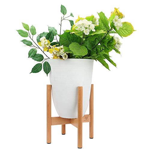 Malayas 2PCS Soporte para Macetas de Madera con 4 Ruedas Universales Base M/óvil de Plantas Flores para Jard/ín Hogar Interior Exterior 30 x 30cm