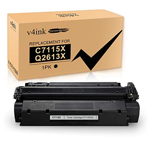 v4ink New Toner Cartridge Replacement for HP C7115X 15X C7115A 15A Q2613X 13X Toner to use for HP Laserjet 1200 1220 1300 1000 1005 1150, HP Laserjet 3300 3310 3320 3330 3380 Printers (Black, 1 Pack)
