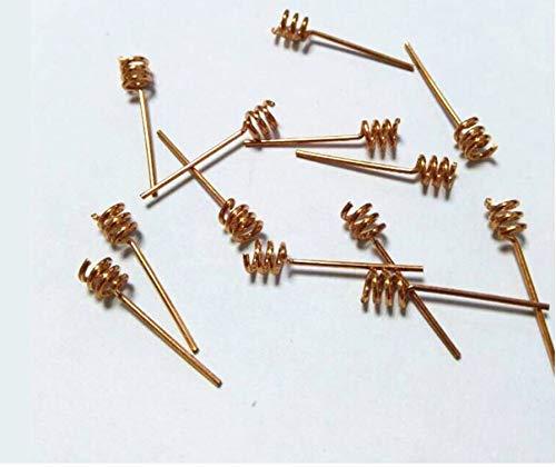 WSF-Helical-Antenne, 100pcs 2.4G 2DBI Kupfer Schraubenfeder WiFi-Antenne 0.8mm for 2.4G-Funkmodul direkte Schweißen PCB Feder Antenne