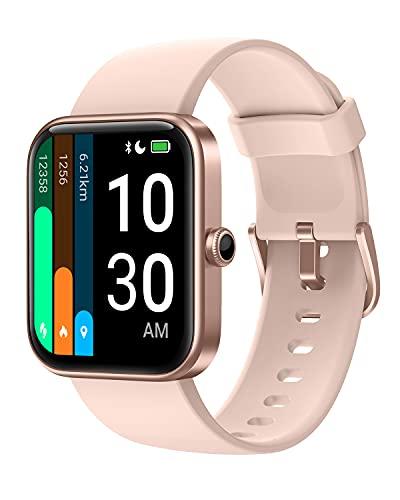 YAMAY Smartwatch Donna con Saturimetro Alexa Integrata Orologio Fitness Android iOS Contapassi Cardiofrequenzimetro, Sfondo Personalizzato, modalità Nuoto, Gestire la Musica, GPS Condiviso, Meteo