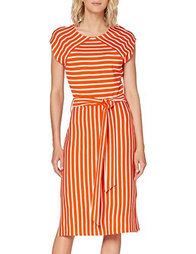 ESPRIT Collection Damen 040EO1E301 Kleid, 825/RED ORANGE, S
