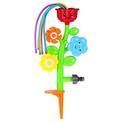 STOBOK Outdoor Wassersprinkler Sprinkler Spray Hof Spinning Blume Sprinkler Spielzeug Figur Turbinenblume Spielzeug für Kinder Kleinkinder
