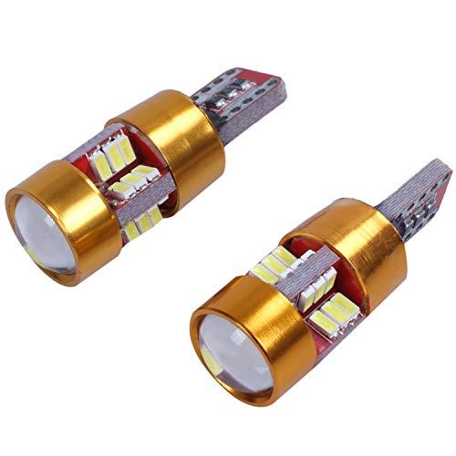 SODIAL Led Bombillas para El Coche Canbus T10 27SMD 3014 12V 10W 1000lm CANBUS Incorporado Y Disipador De Calor para Luz Interior, Luz De Techo (T10 27SMD 3014), 2PCS
