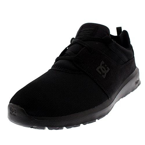 DC Shoes Heathrow, Herren Low-Top Sneakers, Schwarz (Black/Black/Black), 43 EU