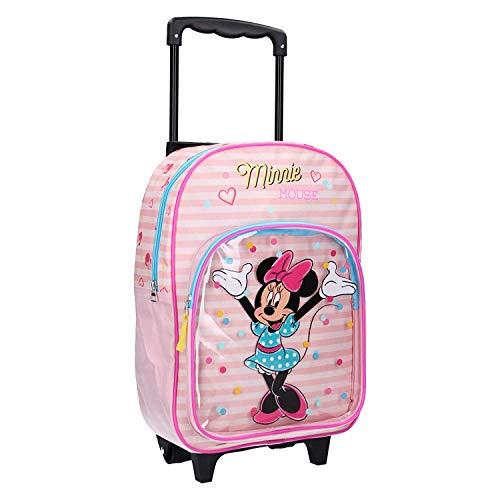 Disney Minnie Mouse Trolley Rucksack für Mädchen - Streifen - Rosa