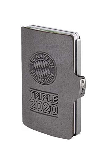 I-CLIP Original Silver FC Bayern München Triple 2020 Urban Grey, Portafoglio, Wallet