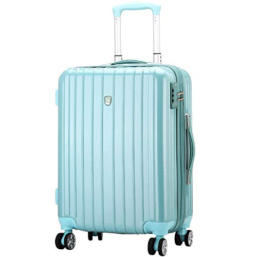 YANYINGDE TSA-Schloß Koffer Reisekoffer Trolley Kofferset,Large Capacity Trolley Luggage, Password Boarding Zipper Suitcase@Robin Blue_24...