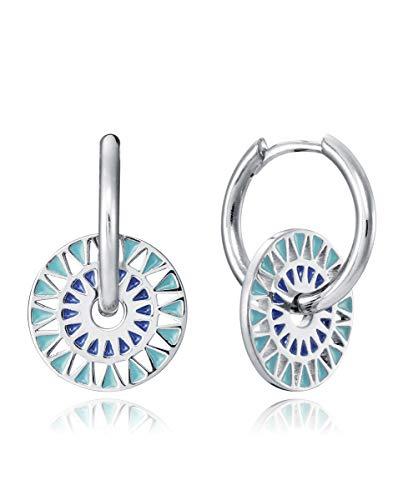 Viceroy Pendientes Jewels. Plata. Disco Esmalte. 61011e000-19