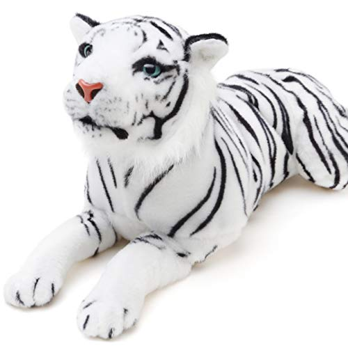 Sada The White Tiger - 23 Inch (Tail Measurement Not Included) Stuffed Animal Plush - by Tiger Tale Toys