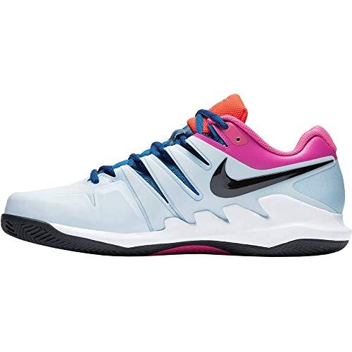 Nike Herren Air Zoom Vapor X Cly Tennisschuhe, Mehrfarbig (Half Blue/Black/White/Laser Fuchsia 401), 44 EU