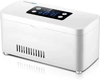 Bärbart medicinskt kylskåp och insulinkylare - mini drogkylskåp Smart temperaturkontroll 2-8 ° C, Bil Travel Kylskåp, Vit