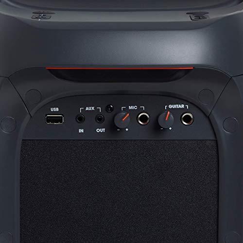 JBL PartyBox 100 in Schwarz – Tragbarer Bluetooth Party-Lautsprecher mit Lichteffekten – Spritzwassergeschützte, mobile Musikbox mit Netzteil - 9