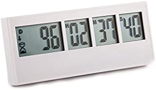 Retirement Timer up to 999 days, countdown and alarm by Cirbic (White)