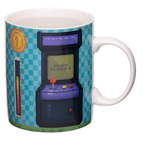 MIK funshopping Kaffeebecher Game Over Arcade mit Thermoeffekt aus Porzellan 300ml