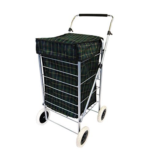 Oypla 4 Wheel Folding Shopping Trolley Bag Cart Market Laundry