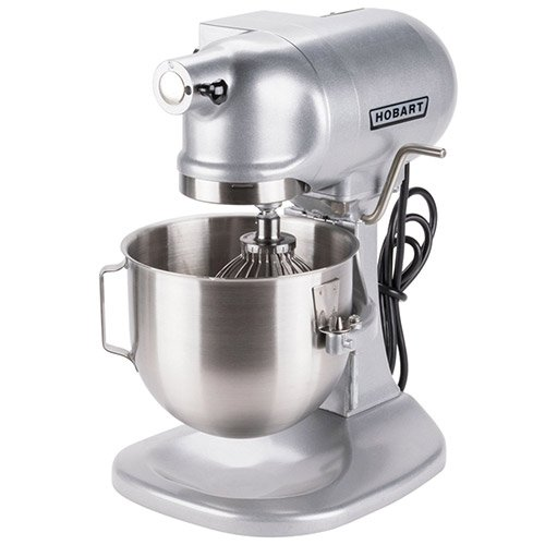 Hobart N50-60 5 Quart Commercial Countertop Planetary Stand Mixer, 3 Speeds, Gray