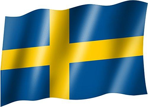 Vlaggen/vlag Zweeds nationaal vlaggetje/nationale vlaggen/hijsvlag met oogjes 150x90 cm, zeer goede kwaliteit