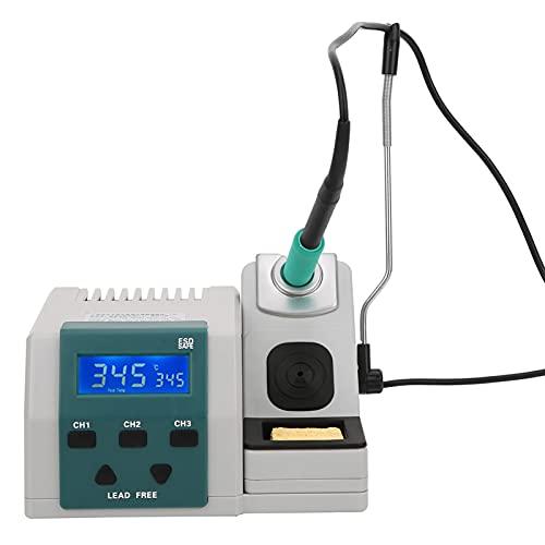 Estación de soldadura Plástico 3 canales de almacenamiento Operación en tiempo real Calefacción rápida Estación de soldadura 120W(Punta de cautín especial EU220V)