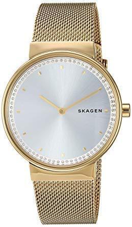 Skagen Women Analogue Quartz Uhr mit Stainless Steel Armband SKW2755