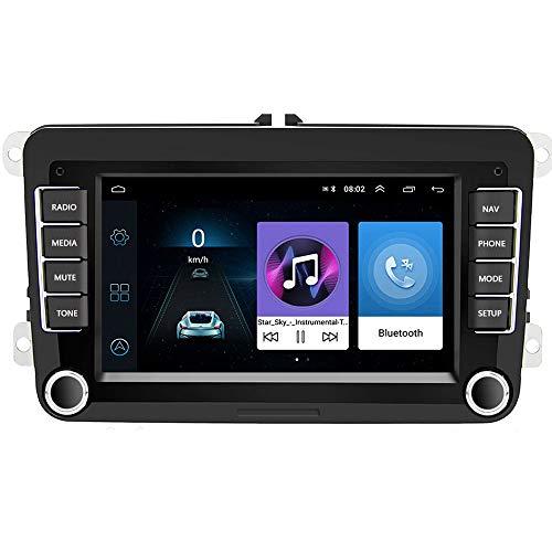 Bluetooth Autoradio 2 DIN 7'Android 8.1 Reproductor Multimedia de Coche Estéreo de Coche WiFi Navegación GPS para Skoda V/W Passat B6 Polo Golf