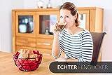 Chefarone Obstschale Metall – dekorativer Obstkorb Vintage Schwarz – Obst Aufbewahrung für mehr Vitamine in Ihrem Alltag (26x26x12cm) - 6