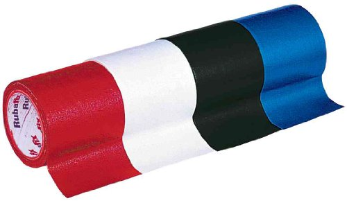 Rubafix Gewebeband, Maáe: (B)38 mm x (L)3 m, rot