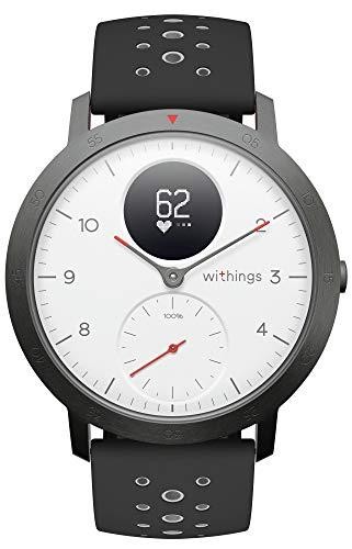 Withings Steel HR Sport - Reloj inteligente híbrido multideporte con GPS, pulsómetro, medición del VO2 máximo para conocer el estado físico, seguimiento de la actividad y del sueño, notificaciones