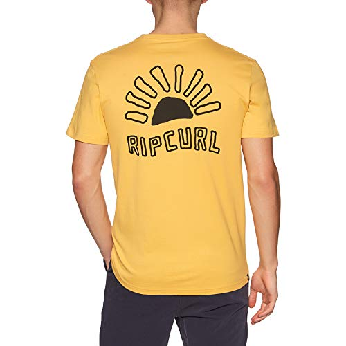 Rip Curl Golden Road F/b Short Sleeve T-Shirt X Large Washed Yellow