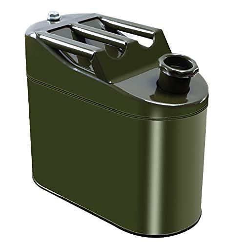 KaysaLY Bidón de Gasolina, Tanque de Combustible de Repuesto, con Tubo de Interfaz de plástico, Hebilla y Guantes
