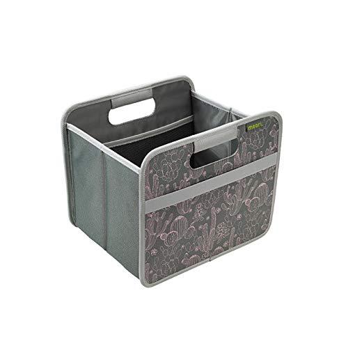 meori Faltbox Small Cactus 32x26,5x27,5cm Polyester Premium Qualität Wohnen Einrichtung Möbel Sortierung Aufbewahren Verstauen, Kaktus/Print