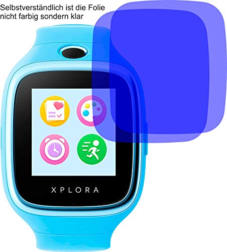4ProTec I 4X Crystal Clear klar Schutzfolie für XPLORA 3S Bildschirmschutzfolie Displayschutzfolie Schutzhülle Bildschirmschutz Bildschirmfolie Folie