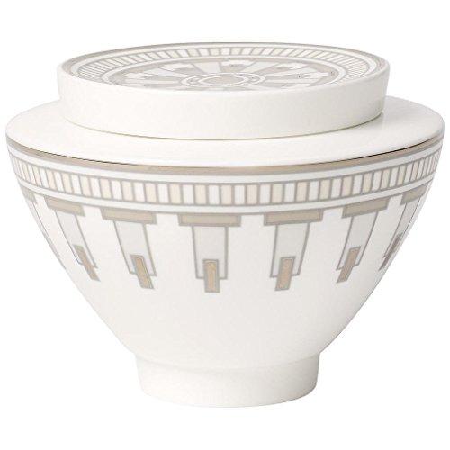 Villeroy Boch La Classica Grand &Contura Pot à Confiture/sucrier pour 6 Personnes Blanc