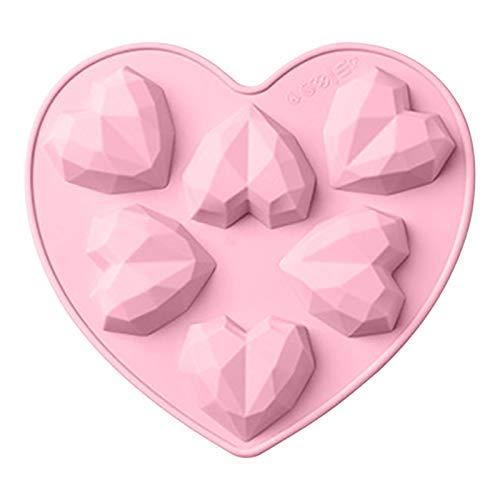 Molde De Silicona De Corazón - Corazón De Amor 3D, Molde De...