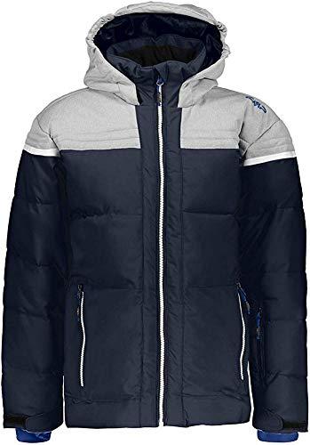 CMP Jungen Skijacke 39W1904 Jacke, Black Blue, 140 (L)