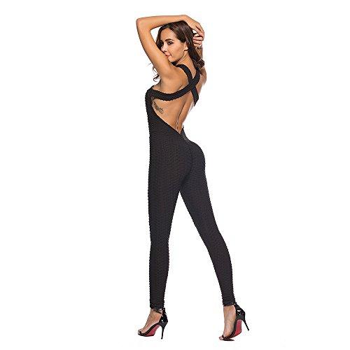 Mono de Yoga con Tirantes para Mujer Monos Pantalones Deportivos, Mujers Mallas Pantalones Deportivos Leggings Yoga de Alta Cintura Elásticos y Transpirables para Fitness con Gran Elásticos