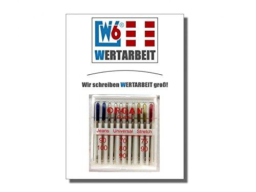 Original W6 Nähmaschinennadel 130/705 H Combi Jeans/Universal/Stretch