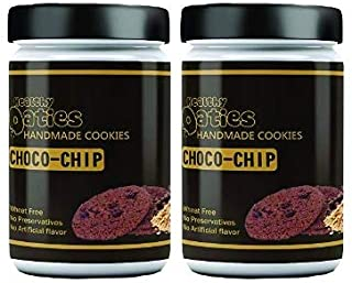 Healthy Oaties Fresh Soft Baked Cookies - High in Protein, Non GMO, No Wheat Flour, No Refined Sugars - Oats and Chocochip...