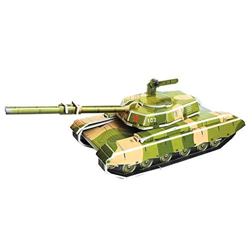 3D Puzzle DIY Gebäude BAU Spielzeug Karte Modell Gebäude Sets Sichere Foam Tiger Tank Weltkrieg II Auto Spielzeug Für Kinder