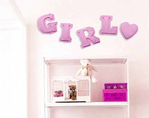 Vivant Big lettres de papier pour Girl (3 m X 20 cm, Rose)