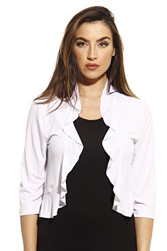 Just Love 401572-WHT-L Shrug/Shrugs/Women Cardigan White