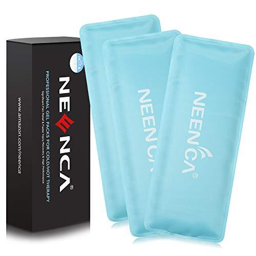 NEENCA Reusable Kühlpads Gel(3 Packungen mit 10 * 23 cm),Soft Touch Gel-Packungen für die Kälte & Wärmekompressen.Flexible Gel-Eisbeutel gegen Schwellungen,Blutergüsse,Verstauchungen,Muskelschmerzen