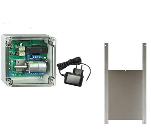 Elektronischer Pförtner mit Hühnerklappe 50 x 50 cm und Lichtsensor