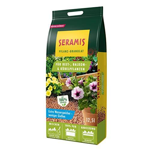 Seramis Pflanz-Granulat als Pflanzenerden-Ersatz für Beet-, Balkon- und Kübelpflanzen, Inkl. 4 Wochen Start Düngung, Ton-Farbe, 12,5 Liter