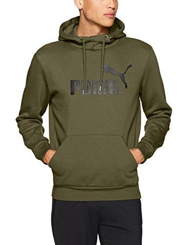 Puma Men's Essential No.1 Fleece Hoodie, Olive Night, X-Large