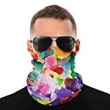 Abstract Colorful Art-1 Neck Gaiter 2 Pcs Shield Scarf Bandana Uv Protection for Motorcycle Cycling Riding Running Headbands Black