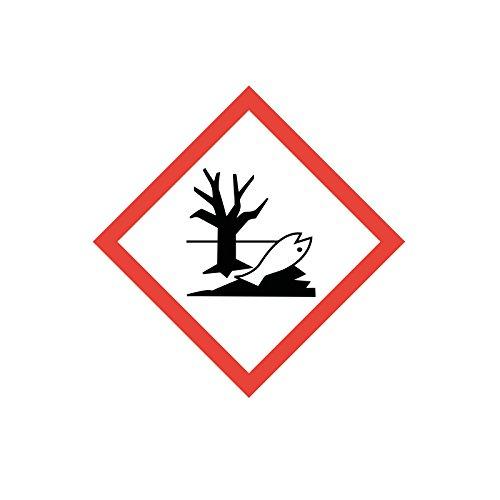 easydruck24de Gefahrstoffaufkleber GHS09: Umweltgefährlich, hin_153, 10x10cm, Gefahrstoffsymbol, GHS-Kennzeichnung, Achtung, Warnung, Vorsicht, Hinweis